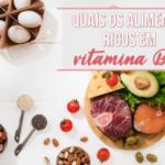 Quais os alimentos ricos em vitamina B12?